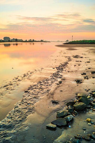 Sunrise River The Lek - Ameide van Jan Koppelaar