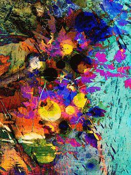 Modernes, abstraktes digitales Kunstwerk - unter dem brennenden Mann (rechts) von Art By Dominic
