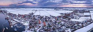 Drone panorama van Rijnsaterwoude