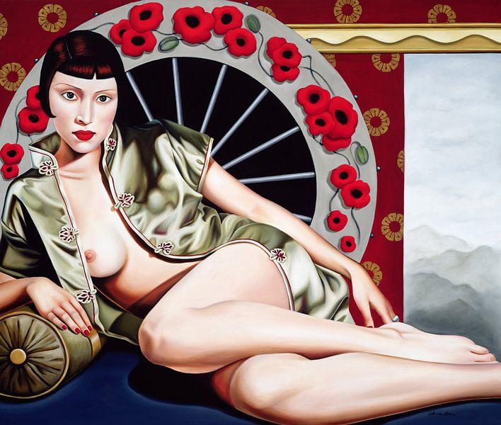 Golden Poppy Hour van Catherine Abel