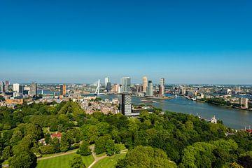 Rotterdam met de Erasmusbrug in vergezicht. van Brian Morgan
