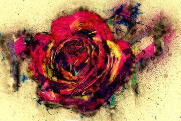 abstrakte Rose van
