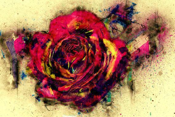 abstrakte Rose van Dagmar Marina