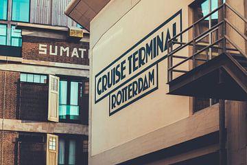 Kreuzfahrtterminal und Lagermeister in Rotterdam von Maarten Mooijman