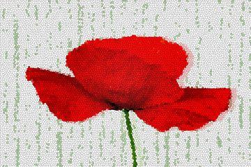 Poppy mosaic sur Marion Tenbergen