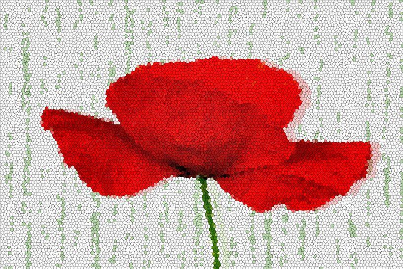 Mohnblume Mosaik von Marion Tenbergen