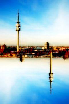 Olympiaturm abstrakt sur