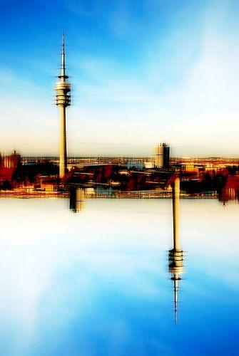 Olympiaturm abstrakt