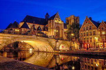 Sint-Michiels bij nacht van Johan Vanbockryck