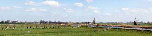 Polderlandschap met molens bij Hoogmade