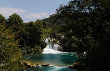 Waterval Krka Kroatië von Willem van den Berge