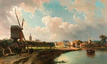 Blick auf Den Haag vom Delfter Kanal aus dem 17. Jahrhundert