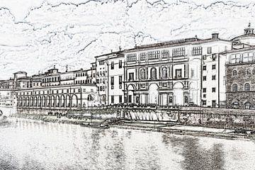 Galleria degli Uffizi in Florence, Italië van Gunter Kirsch