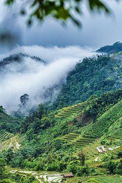 Vietnamese bergen in de mist van Dokra Fotografie