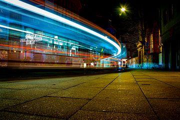 Voetgangerszones in de oude stad van Erfurt van David Krause | Berlin
