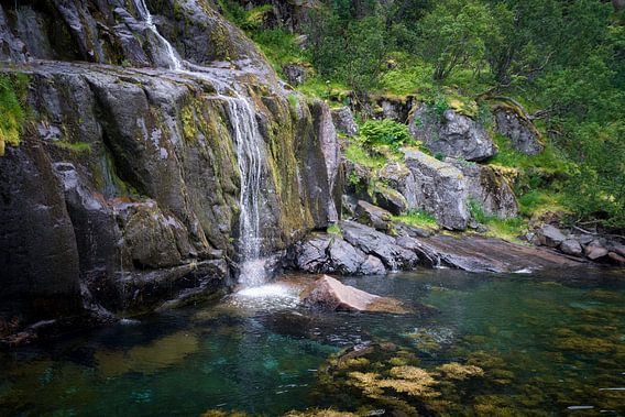trollfjord Norway van Gerard Wielenga
