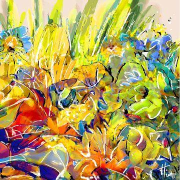Blumenstrauß 1 von Henk van Os