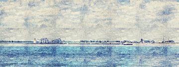 Panorama Breskens (Zeeland) (schilderij) van Art by Jeronimo