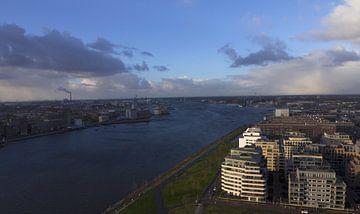 Amsterdam stadsgezicht. van Jakob Huizen van