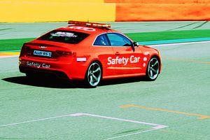 Safety car auf der Strecke