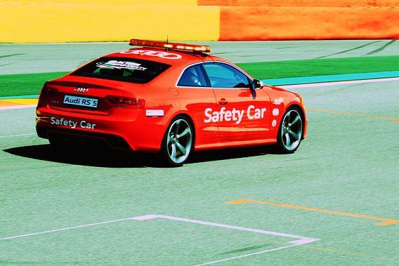 Safety car auf der Strecke von MSP Canvas