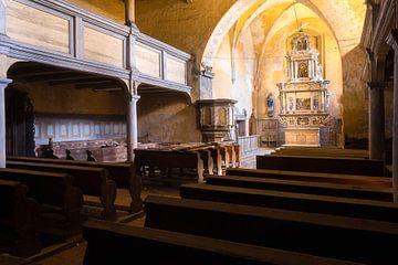 Verlaten Kerk in Verval. van