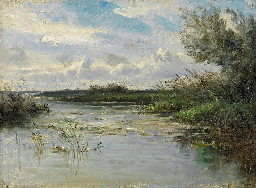 Carlos de Haes-Het wilde graslandschap, het antieke landschap van finemasterpiece