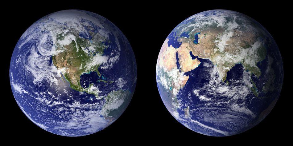 Dubbel Afdruk van De Aarde van Digital Universe