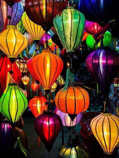 Brandende lantaarns in Hội An, Vietnam