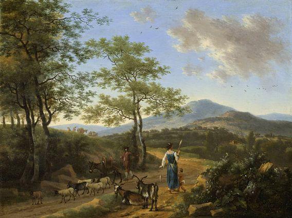 Italiaans landschap met herders, Willem de Heusch