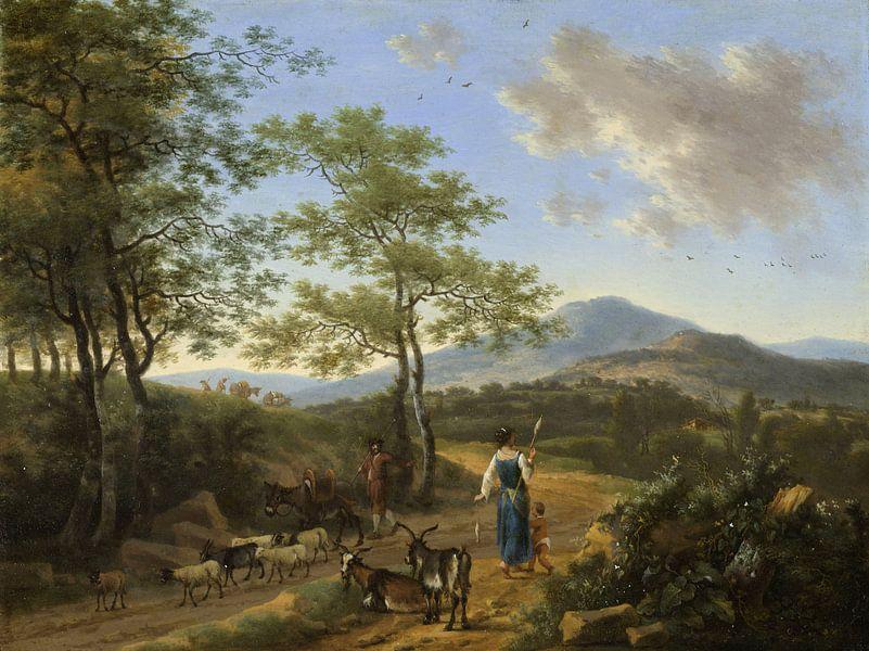 Italiaans landschap met herders, Willem de Heusch van Meesterlijcke Meesters