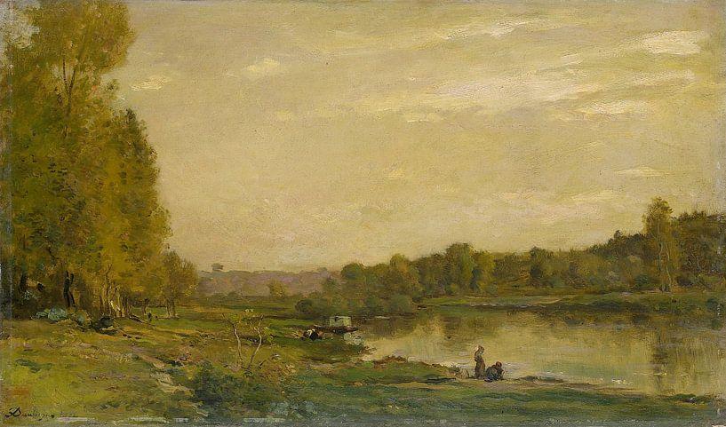 Am Ufer der Oise, Charles-François Daubigny von Meesterlijcke Meesters