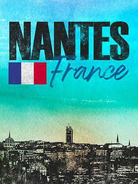 Nantes France sur Printed Artings