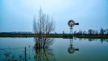 Watermolen aan de IJssel van Sran Vld Fotografie