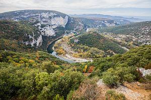 De Gorges de l'Ardeche in het zuiden van Frankrijk van