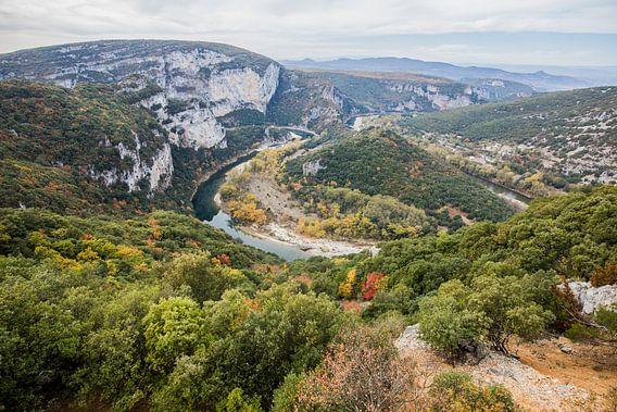 De Gorges de l'Ardeche in het zuiden van Frankrijk
