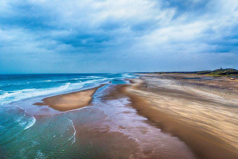 Noordzee kust van Scheveningen in HDR van Brian Morgan