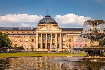 Kurhaus und Brunnen auf dem Bowling Green, Wiesbaden von Christian Müringer