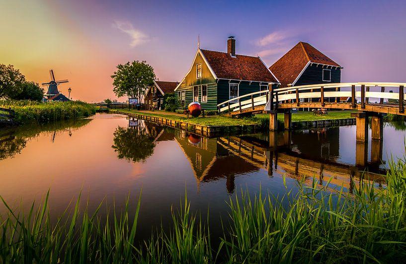 Zonsondergang Kaasboerderij 'Zaanse Schans' van Patrick Rodink