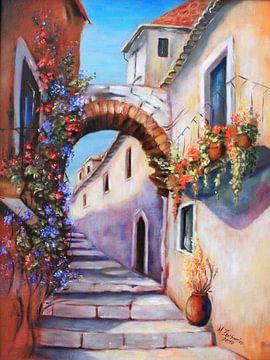 Photos méditerranéens - Alley peint sur Marita Zacharias