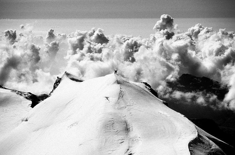 Bergbeklimmers op de Monte Rosa van Menno Boermans