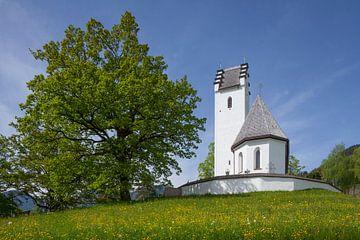 Bedevaartskerk van St. Margarete, St. Margarethen, Brannenburg, Opper-Beieren, Beieren, Duitsland, E van Torsten Krüger