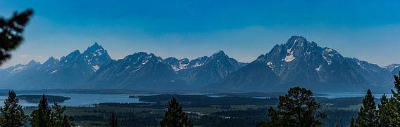 Grand teton panorama van Kevin Pluk
