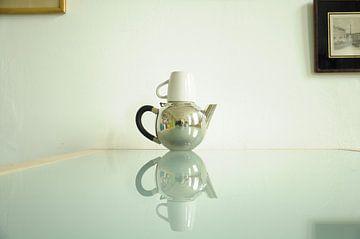 Witte spiegel van Sandra Vermeer