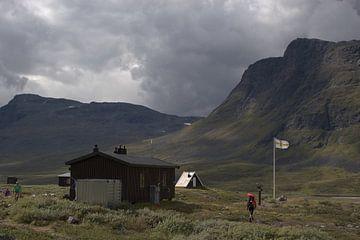 Berghut Sälka in Zweeds Lapland