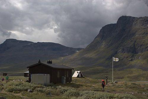 Berghut Sälka in Zweeds Lapland van