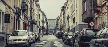 Straat in Brussel von Klaas Leussink