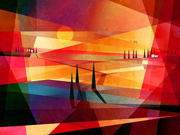 paysage rouge sur Andreas Wemmje
