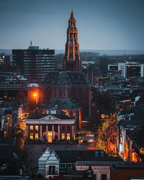 Skyline Groningen, A-kerk, De Korenbeurs, Vismarkt van Harmen van der Vaart
