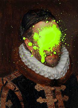 Portret van Willem I, prins van Oranje door Adriaen Thomasz...oeps! van Maarten Knops